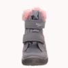 Superfit Crystal Helgrau/rosa Gore-tex lány vízálló bundás téli csizma
