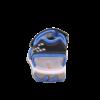 Kép 4/7 - Fekete-kék rombusz mintás fiú Superfit Mike3 szandál