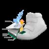 Vízálló bundás téli kislány púder-állatmintás Primigi csizma