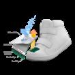 Superfit Sport5 Mini Grau/Rot Gore-tex vízálló gyerekcipő