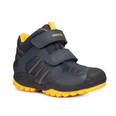 Geox New Savage navy/yellow magasszárú fiú gyerekcipő