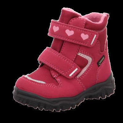 Superfit Husky1 rot/rosa Gore-tex lány vízálló bundás téli csizma