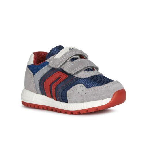 Szürke-kék-piros kisfiú Geox Alben sportcipő