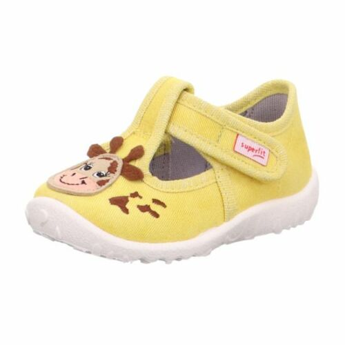 Sárga zsiráfos unisex Superfit Spotty vászoncipő