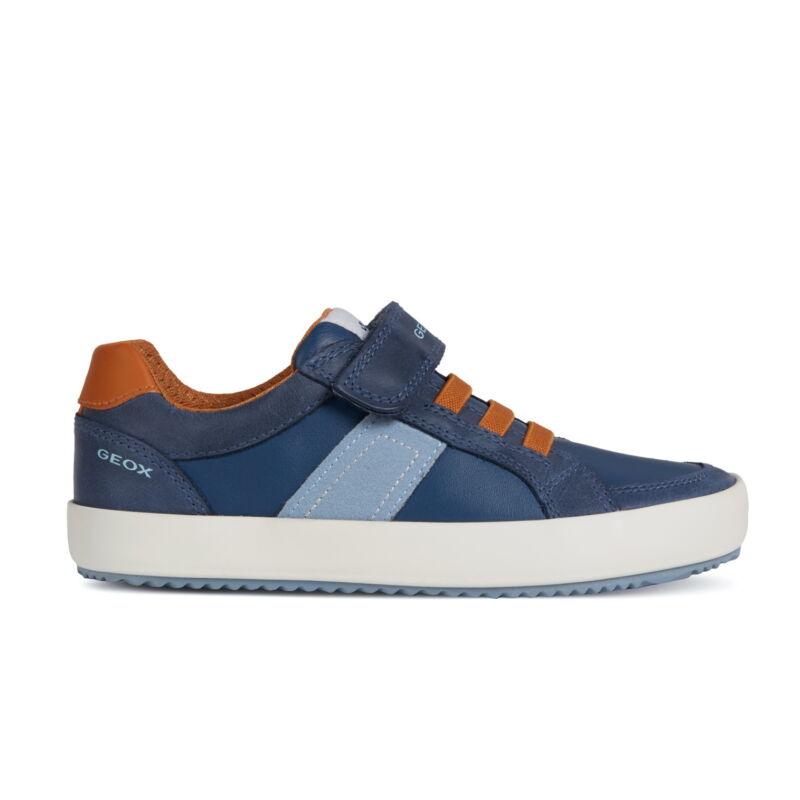 Geox Alonisso navy/dk orange fiú gyerekcipő
