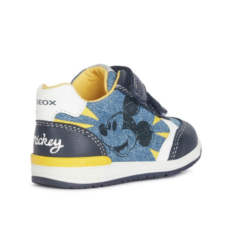 Geox Disney Mickey Rishon kisfiú babacipő kék-farmer