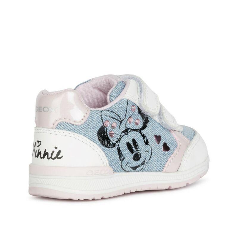 Geox Disney Minnie Rishon kislány babacipő fehér-farmer