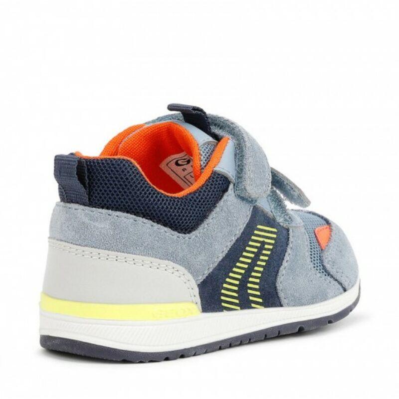 Geox Rishon kisfiú gyerek cipő világoskék-narancs-sárga