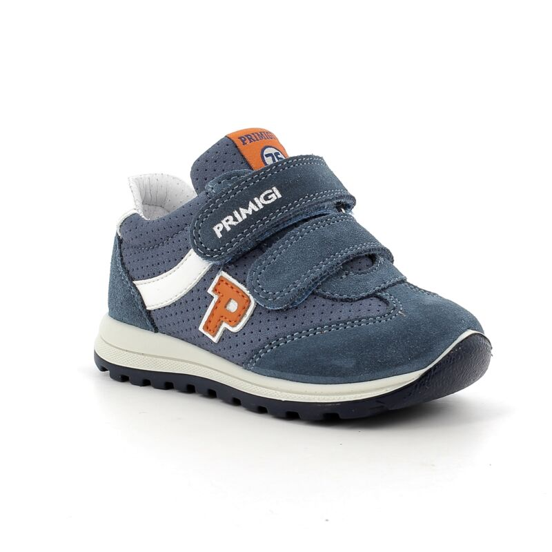 Primigi kisfiú cipő kék-fehér-narancs