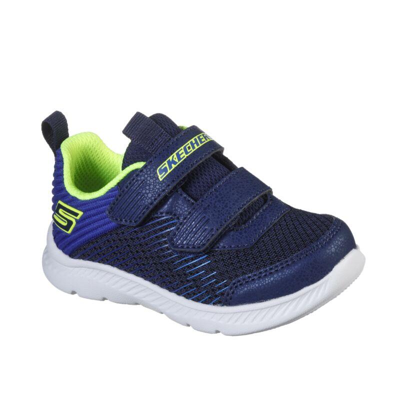Skechers Micro-Run kék-neon gyerek cipő