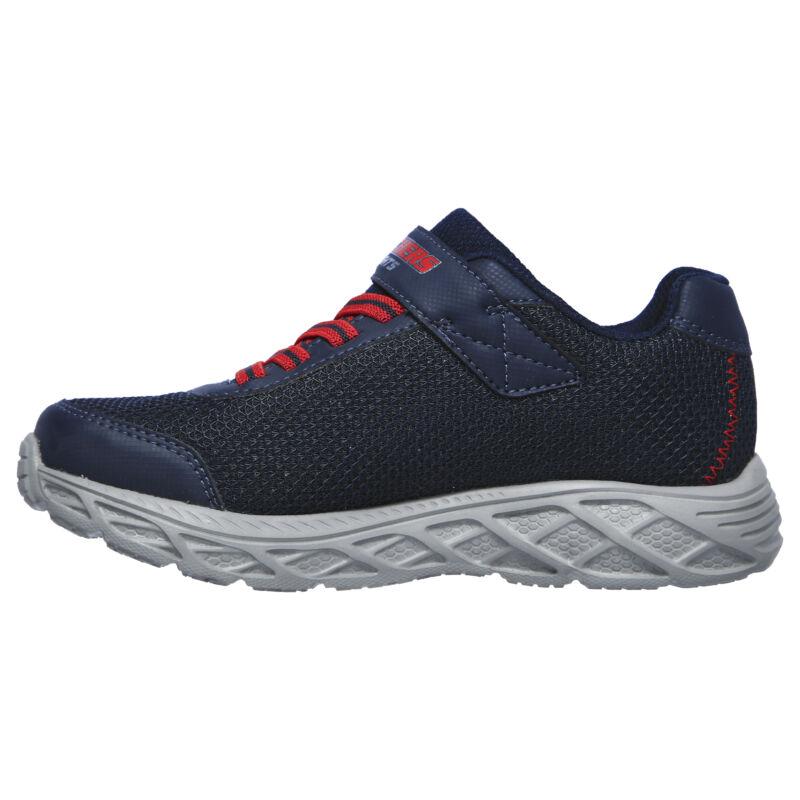 Skechers S-light kisfiú világító cipő sötétkék-piros
