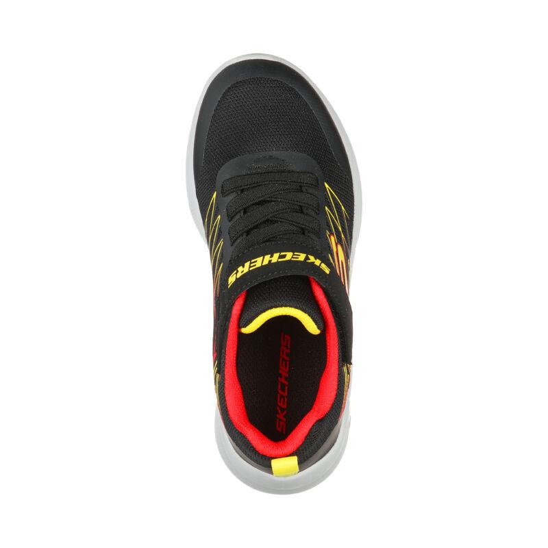 Skechers gyerek cipő Microspec fekete-sárga-piro