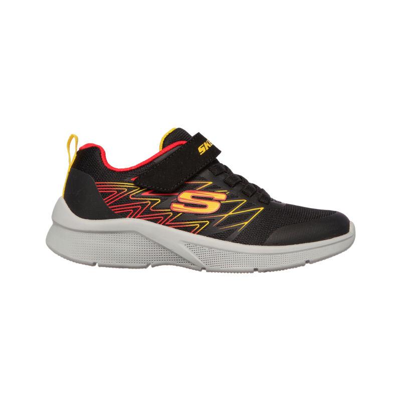 Skechers gyerek cipő Microspec fekete-sárga-piros