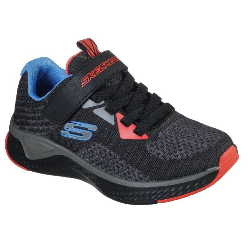 Skechers gyerek cipő Solar-fuse kisfiú fekete-narancs