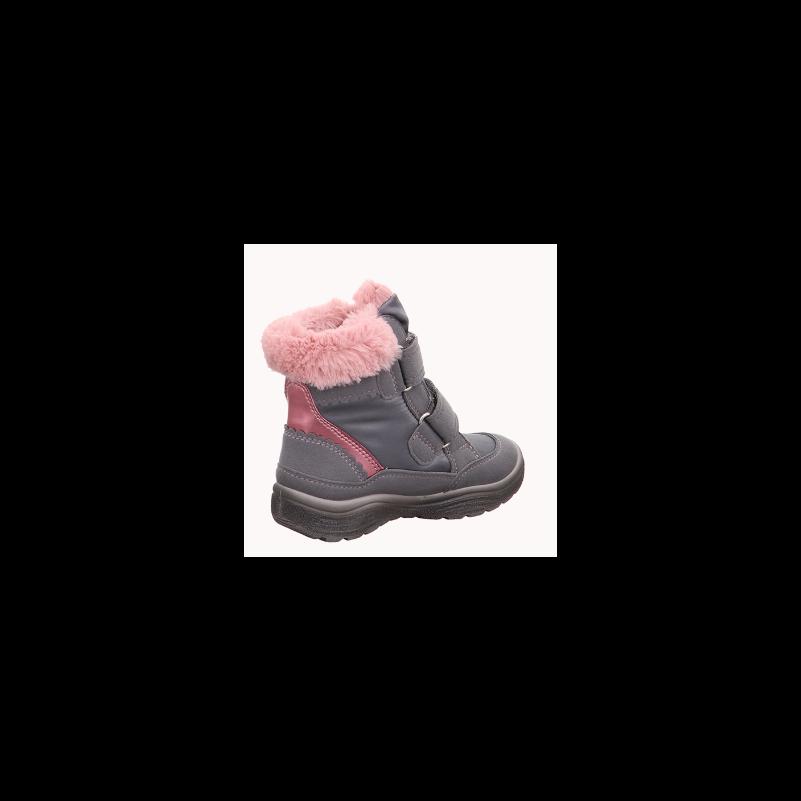 Superfit csizma Crystal szürke-rózsaszín szőrmés