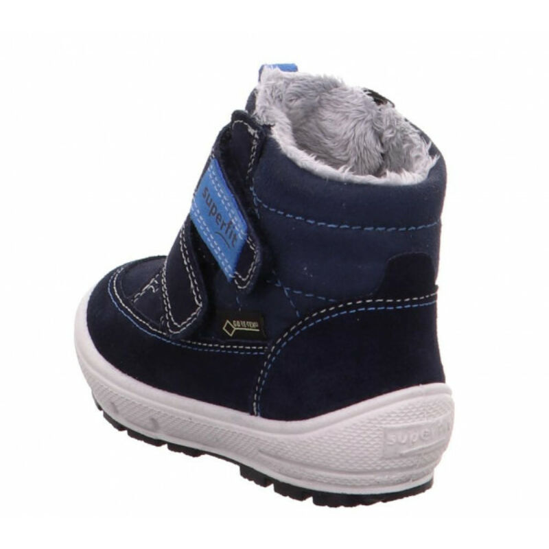 Vízálló téli bundás kisfiú kék Superfit Groovy bakancs