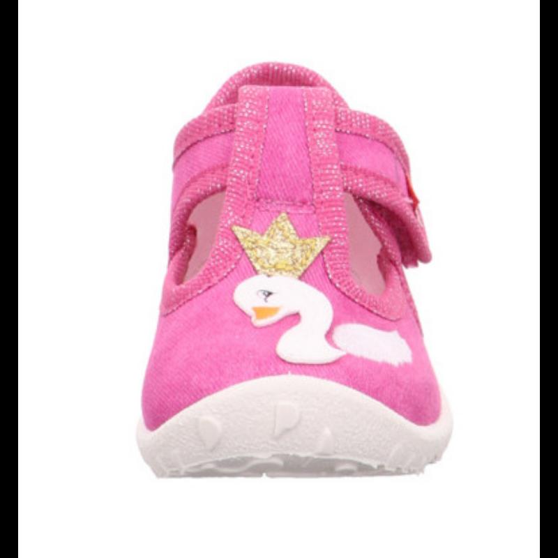 Hattyús pink Superfit Spotty kislány vászoncipő