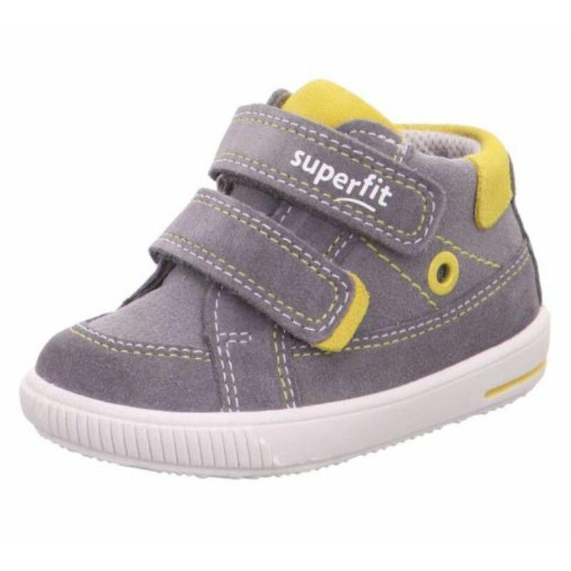 Szürke-sárga kisfiú Superfit Moppy cipő