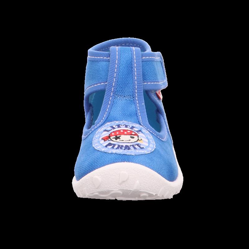 Kék kalózos kisfiú Superfit Spotty vászoncipő