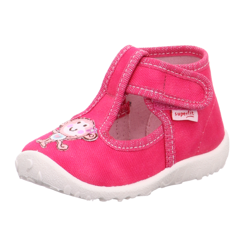 Pink, majmocskás Superfit Spotty vászoncipő