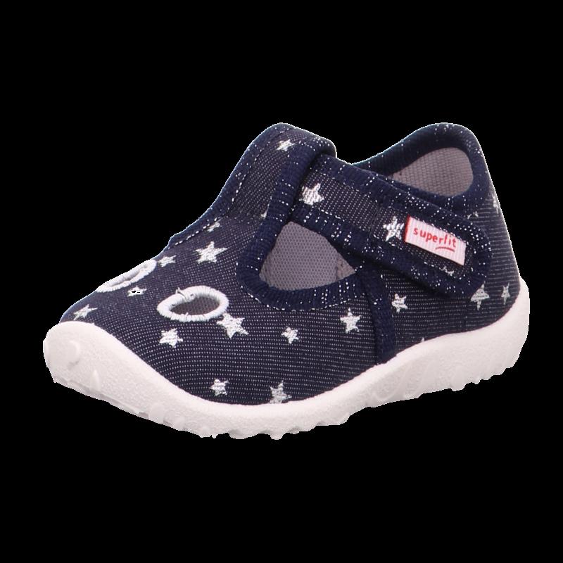 Sötétkék csillagos kislány Superfit Spotty vászoncipő